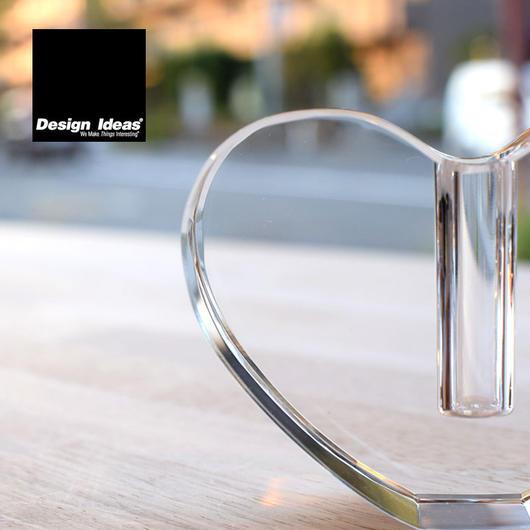 DESIGN IDEAS APHRODITE VASE CLEAR HEART / デザインアイデア アフロディテ ベース 一輪挿し 花瓶  ハート