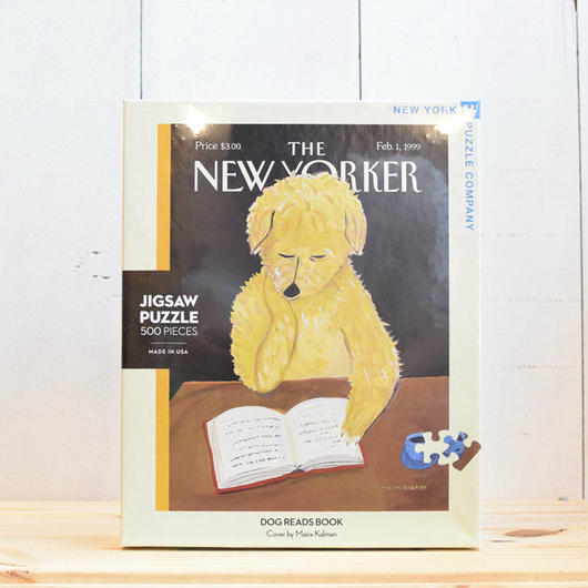 "New York Puzzle Company The New Yorker ""Dog Reads Book""500pc/ザ・ニューヨーカー ジグソーパズル 500ピース"