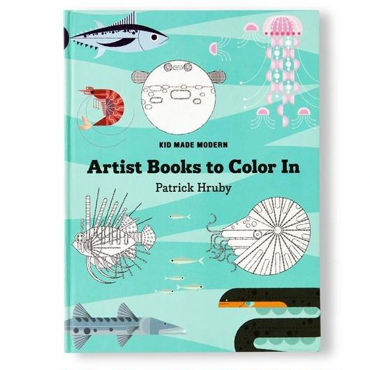 KID MADE MODERN ARTIST BOOKS TO COLOR IN ''PATRICK HRUBY''  / キッドメイドモダン カラーリングブック 塗り絵