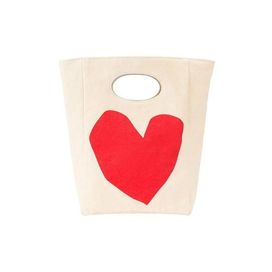 FLUF CLASSIC LUNCH BAG RED HEART / フラフ クラシック キャンバス ランチバッグ