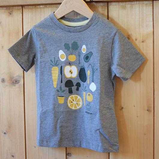 PATAGONIA BABY GRAPHIC ORGANIC COTTON T-SHIRT GRAVEL HEATHER/パタゴニア ベビー オーガニックコットン Tシャツ