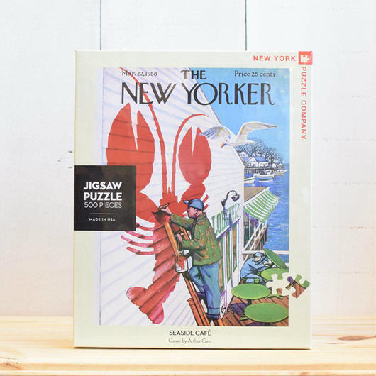 "New York Puzzle Company The New Yorker ""Seaside Cafe""500pc/ザ・ニューヨーカー ジグソーパズル 500ピース"