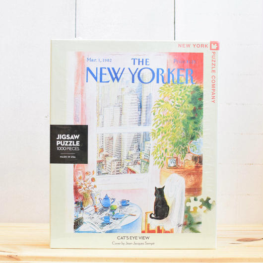 "New York Puzzle Company The New Yorker ""Cat's Eye View""1000pc/ザ・ニューヨーカー ジグソーパズル 1000ピース"