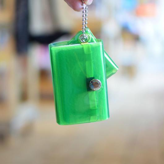 SALLIES MINIMAL WALLET ''Pocket Pal'' GREEN / サリーズ ミニマルウォレット PVC 財布 コインケース グリーン