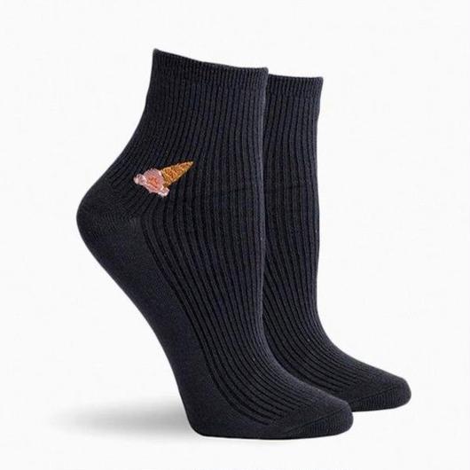 RICHER POORER WOMEN'S ANKLE SOCKS ''CONEY' CHARCOAL / リッチャープアラー レディース アンクルソックス 靴下 チャコール