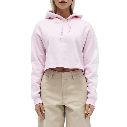 DICKIES GIRL TREAD SLEEVE CROPPED HOODY PINK / ディッキーズ ガール クロップド スウェット フーディ ピンク
