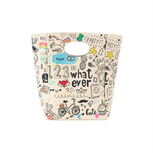 FLUF CLASSIC LUNCH BAG WHATEVER / フラフ クラシック キャンバス ランチバッグ