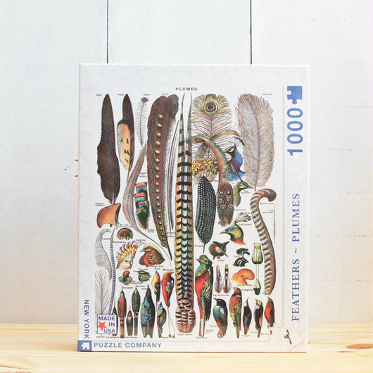 "New York Puzzle Company Nature Series ""Feathers""1000pc/ニューヨークパズルカンパニー ネイチャーシリーズ 羽 1000ピース"