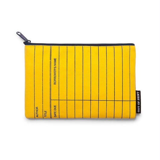 Out of Print Library Card Canvas Pouch Yellow / アウトオブプリント ライブラリーカード キャンバスポーチ イエロー