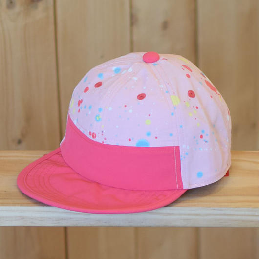 PATAGONIA BABY BAGGIES CAP SEUOIA SPLATTER/FEATHER PINK