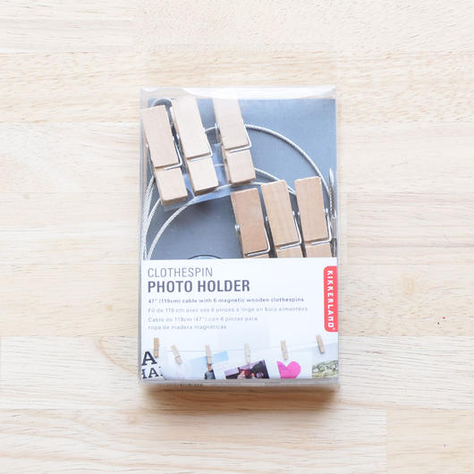 KIKKERLAND CLOTHESPIN PHOTO HOLDER/クロスピン フォトホルダー