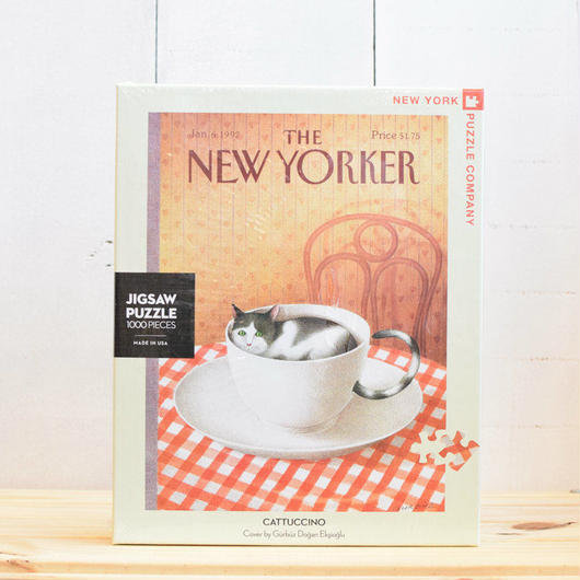 "New York Puzzle Company The New Yorker ""Cattuccino""1000pc/ザ・ニューヨーカー ジグソーパズル 1000ピース"