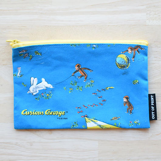 OUT OF PRINT CURIOUS GEORGE  POUCH