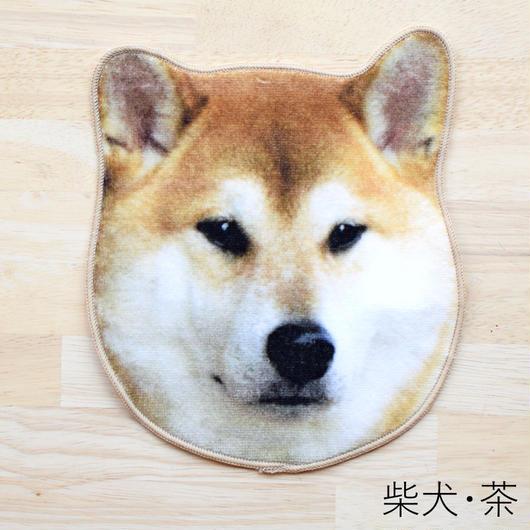 REALISTIC MOTIF TOWEL DOG/リアルモチーフハンドタオル 柴犬・茶