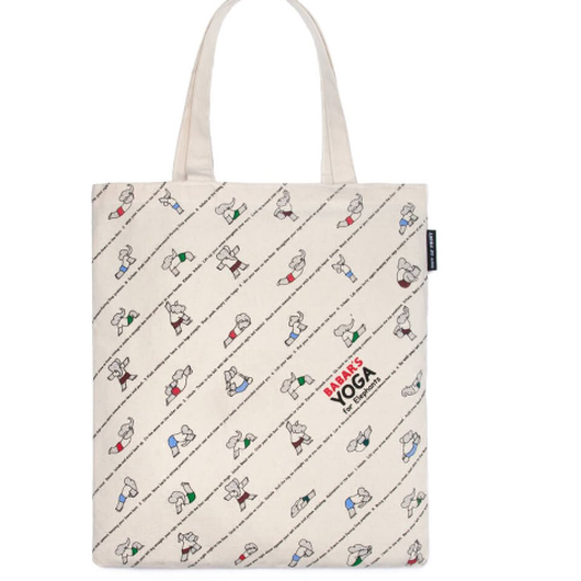 Out of Print Babar's Yoga for Elephants Tote Bag/ アウトオブプリント ぞうのババール ヨガ トートバッグ