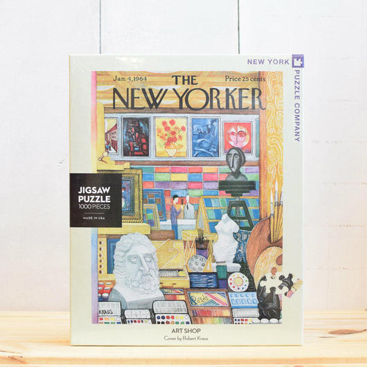 "New York Puzzle Company The New Yorker ""Art Shop""1000pc/ザ・ニューヨーカー ジグソーパズル 1000ピース"