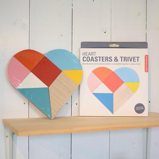 KIKKERLAND HEART COASTERS & TRIVET / キッカーランド ハート コースター&トリヴェット