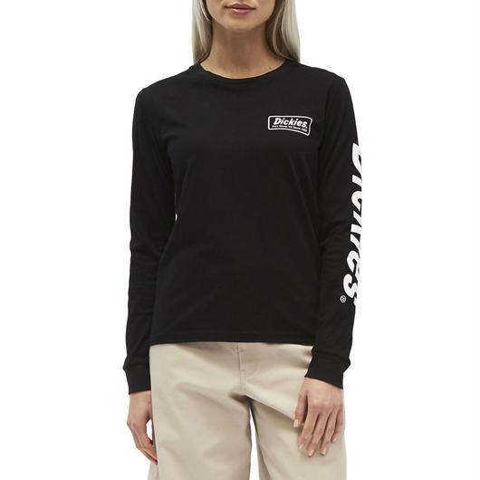 DICKIES GIRL LOGO L/S TEE BLACK/WHITE / ディッキーズ ガール ロゴ 長袖 Tシャツ ロンT ブラック/ホワイト