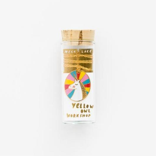 YELLOW OWL WORKSHOP 22k GOLD PENDANT #J124 UNICORN CAMEO / イエロー・オウル・ワークショップ  22金 ネックレス