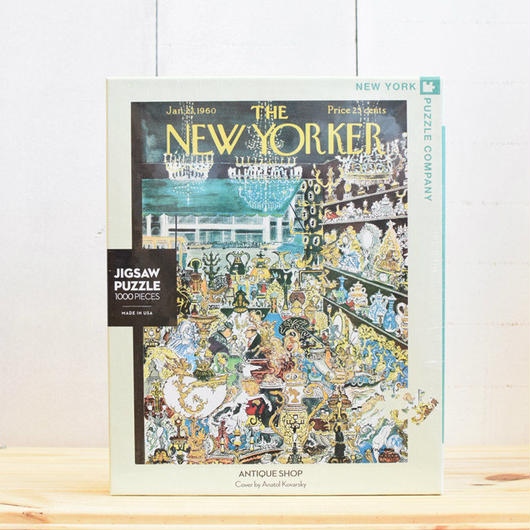 "New York Puzzle Company The New Yorker ""Antique Shop""1000pc/ザ・ニューヨーカー ジグソーパズル 1000ピース"