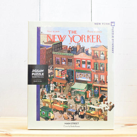 "New York Puzzle Company The New Yorker ""Main Street""1000pc/ザ・ニューヨーカー ジグソーパズル 1000ピース"