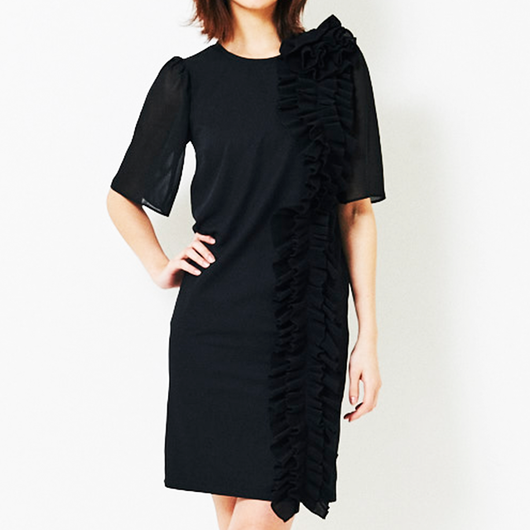 271319004 Pleated Frills Piece