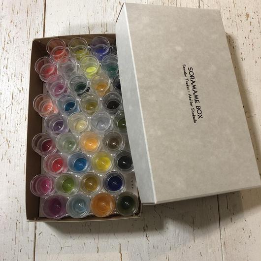 そらまめ全36色セット 象夏堂オリジナル「そらまめ箱」入り