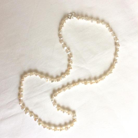 オーダー品 I様  淡水真珠 セミロングネックレス