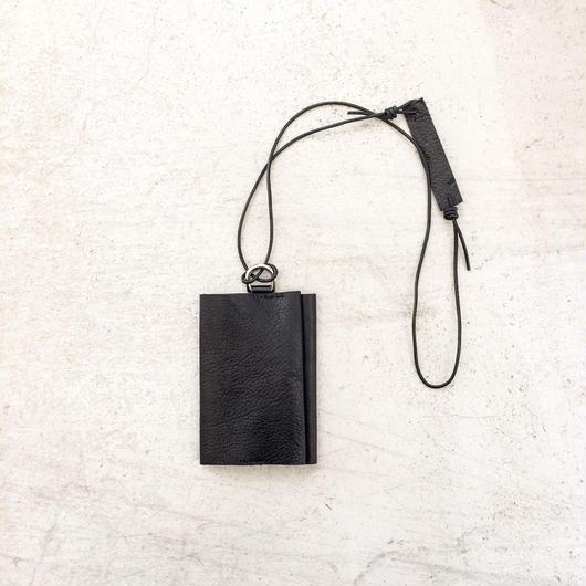 ARUMO カードケース+ネックコード / ブラック