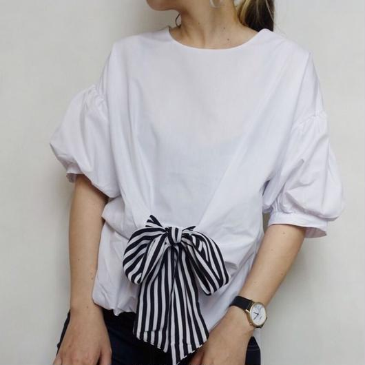 マエリボンシャツ 2col