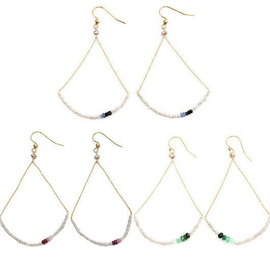 Delicate pearl pierced earrings / デリケートパールピアス