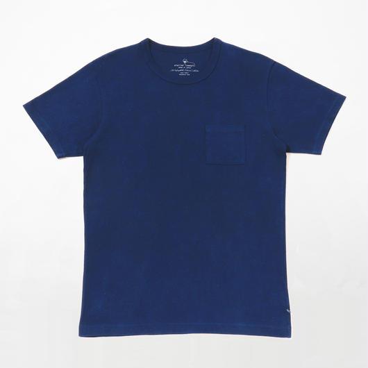 USAコットン16/-吊り編み天竺×広瀬正藍染めポケットTシャツ