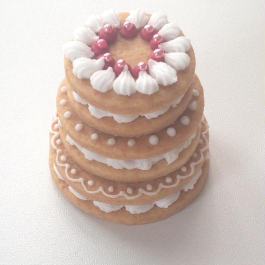 アイシングクッキー 3段ケーキ