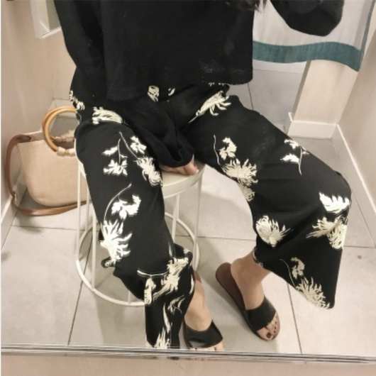【ladies】Flower  pants