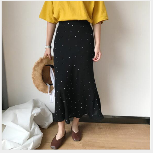 【ladies】Dot  skirt