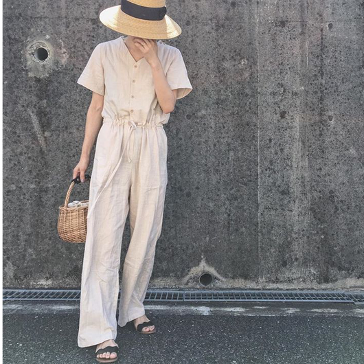 【ladies】linen like all-in-one