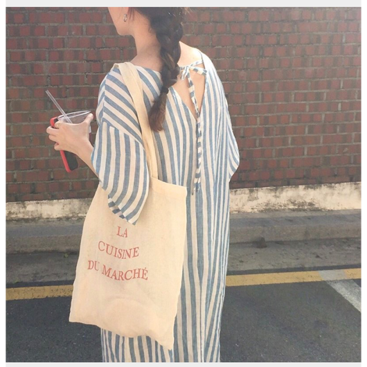 【ladies】Stripe one-piece
