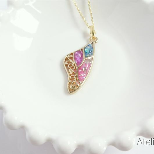 オリジナル❇ハンドメイド✨天使の羽ネックレス