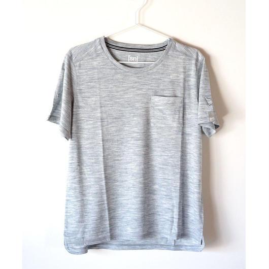 Hiker's T-shirt  col:  blue melange