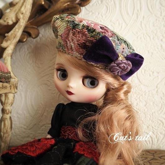 ミディサイズ・イタリア製ゴブランのベレー帽