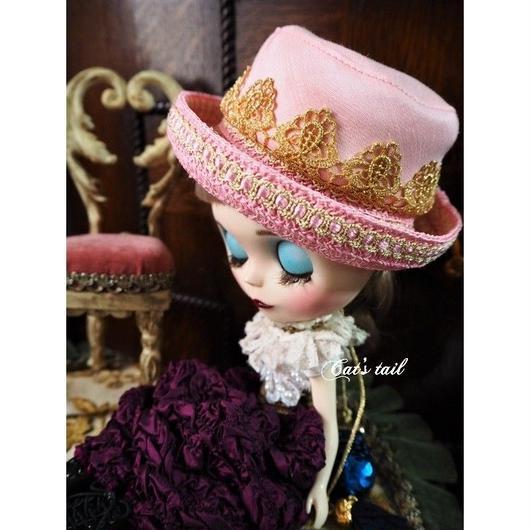 ドールサイズ・ピンク色ラブリーハット