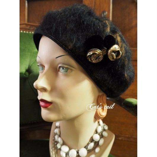 一点物・イタリア上質生地のベレー帽