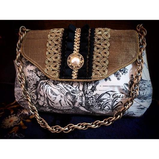 トワルドジュイ&インドシルクのバッグ