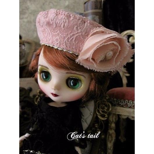 ドールサイズ・ミディサイズ・お花のベレー帽