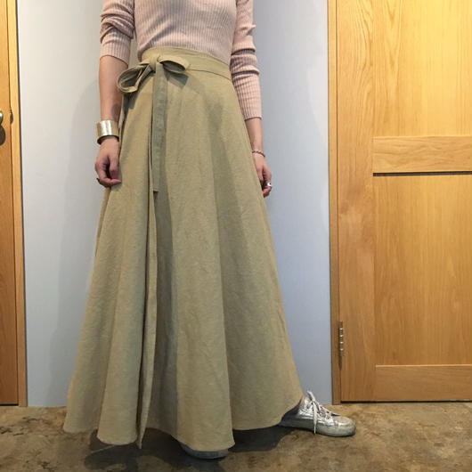 long skirt  = beige =