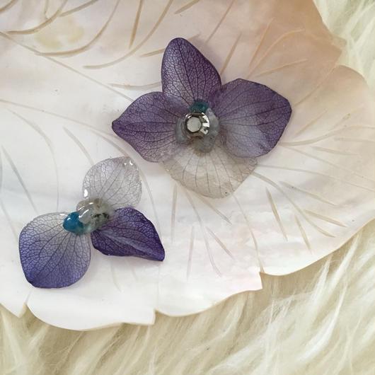 紫陽花の耳飾り  =blue gradation=