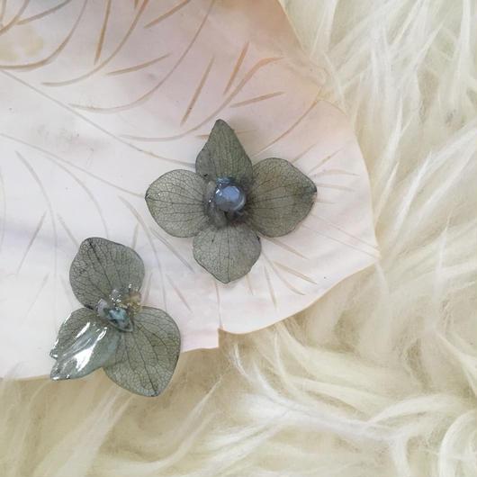 紫陽花の耳飾り  =milky green=