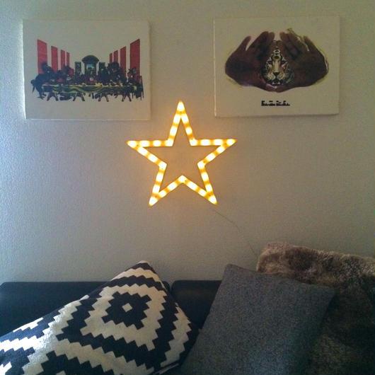 wood マーキー LED Light : stella