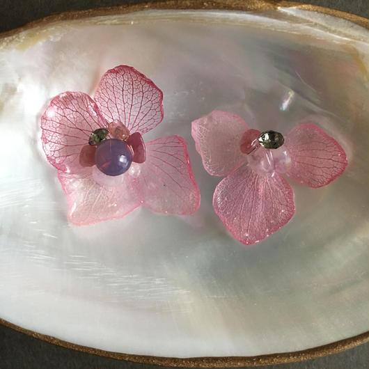 紫陽花のピアス =pink gradation=
