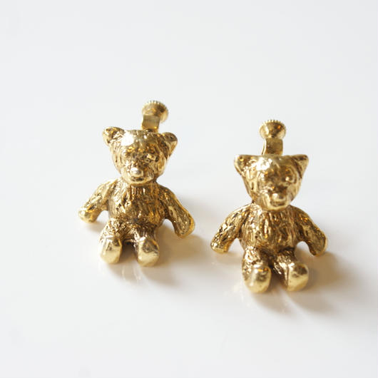 Christmas Special price【スペシャル プライス】 テディベア  イヤリング / ヴィンテージ・アクセサリー
